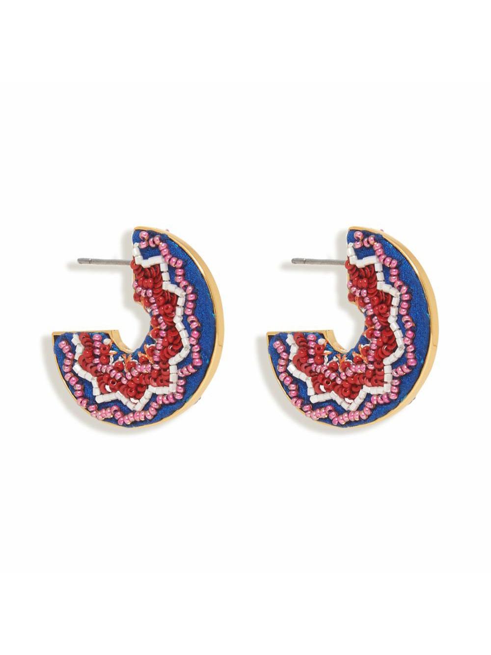 Lydia Hoop Beaded Earrings Item # E490