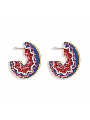 Lydia Hoop Beaded Earrings