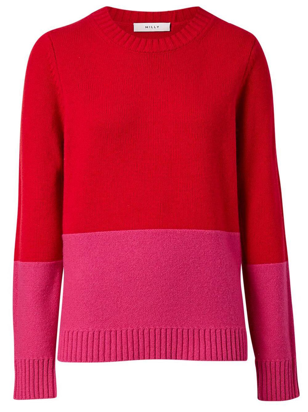 Colorblock Crew Neck Sweater Item # KST204
