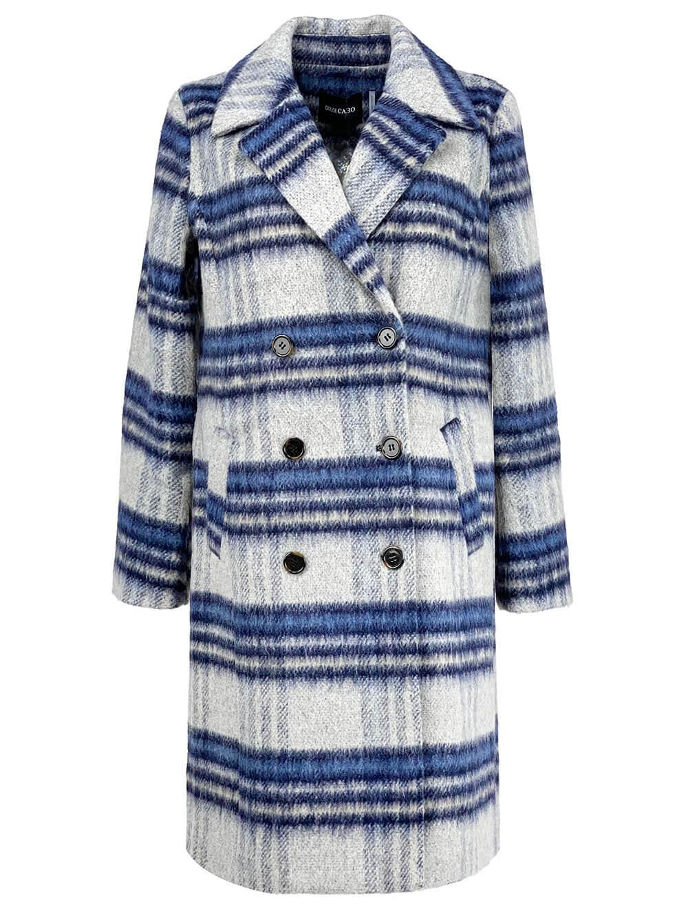 Double Breasted Plaid Coat Item # 75020