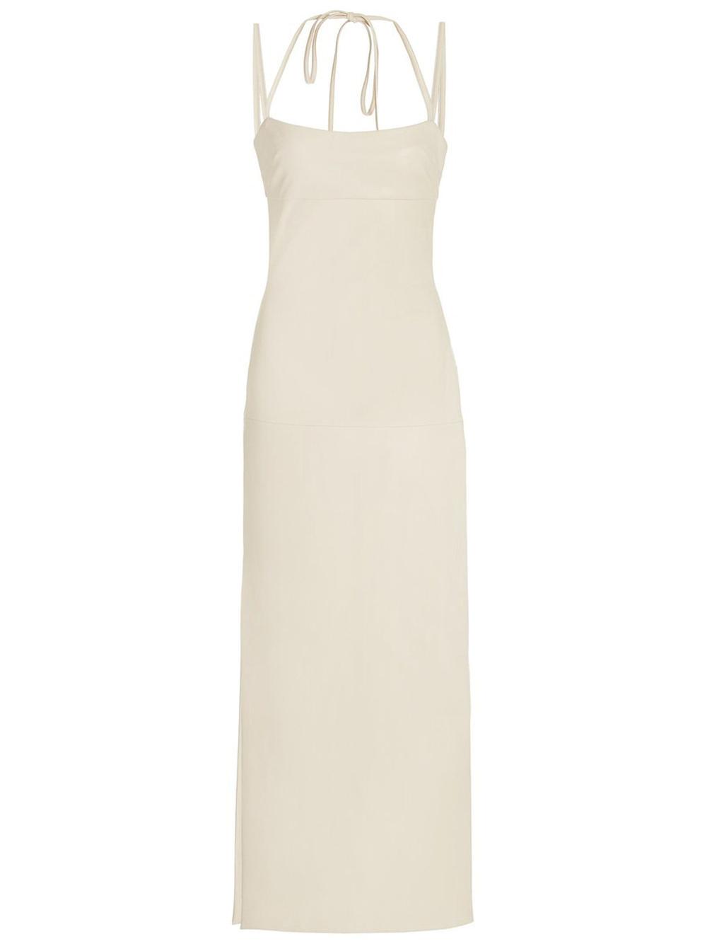 Jacqueline Faux Leather Midi Dress Item # A3210402-7368