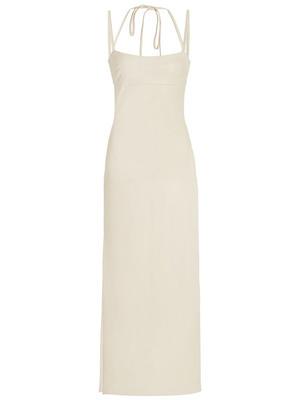 Jacqueline Faux Leather Midi Dress