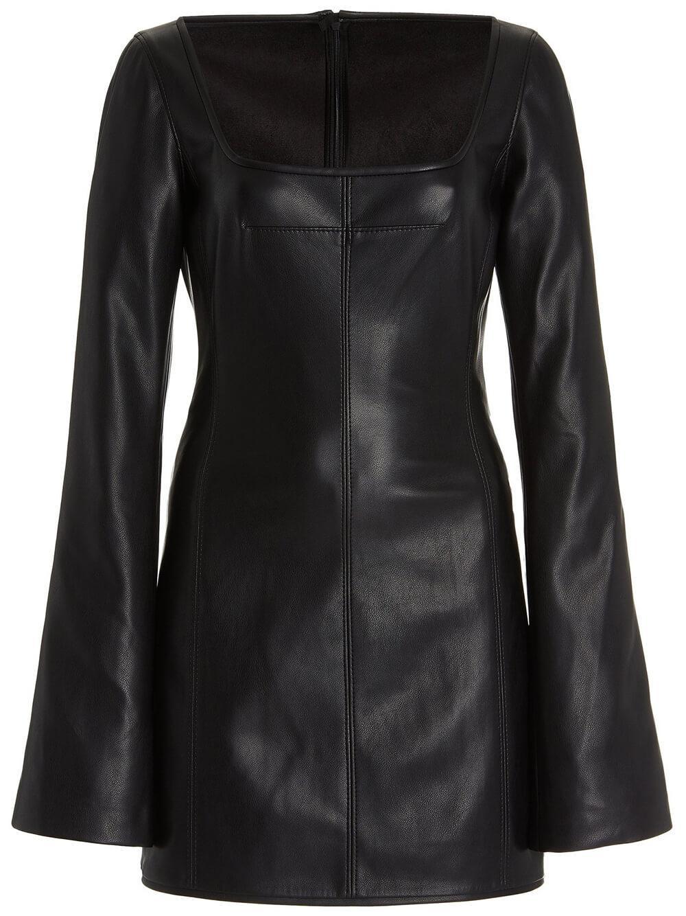 Vanna Faux Leather Mini Dress Item # A3210317-7415