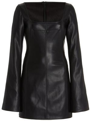 Vanna Faux Leather Mini Dress