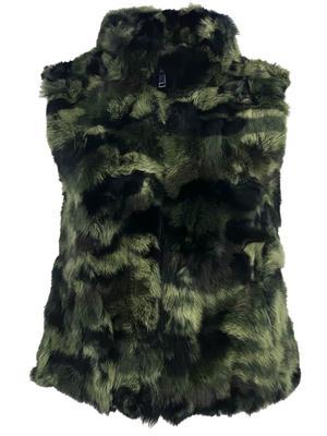 Faux Fur Camo Vest