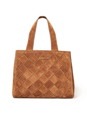 Brandy Woven Suede Work Tote