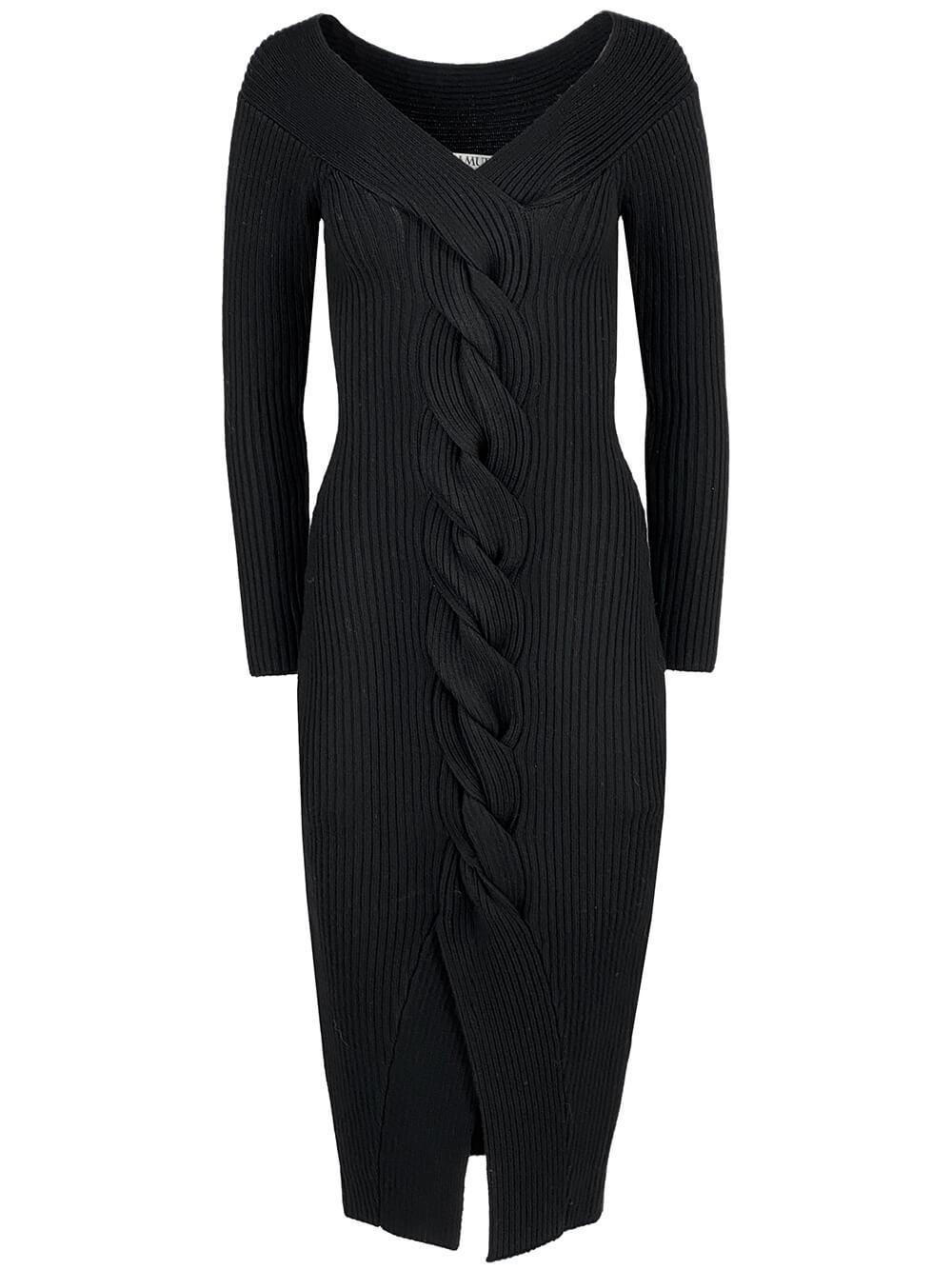 Trianna Off The Shoulder Rib Knit Dress Item # 5815528