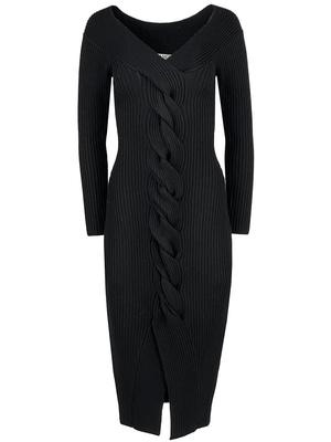 Trianna Off the Shoulder Rib Knit Dress