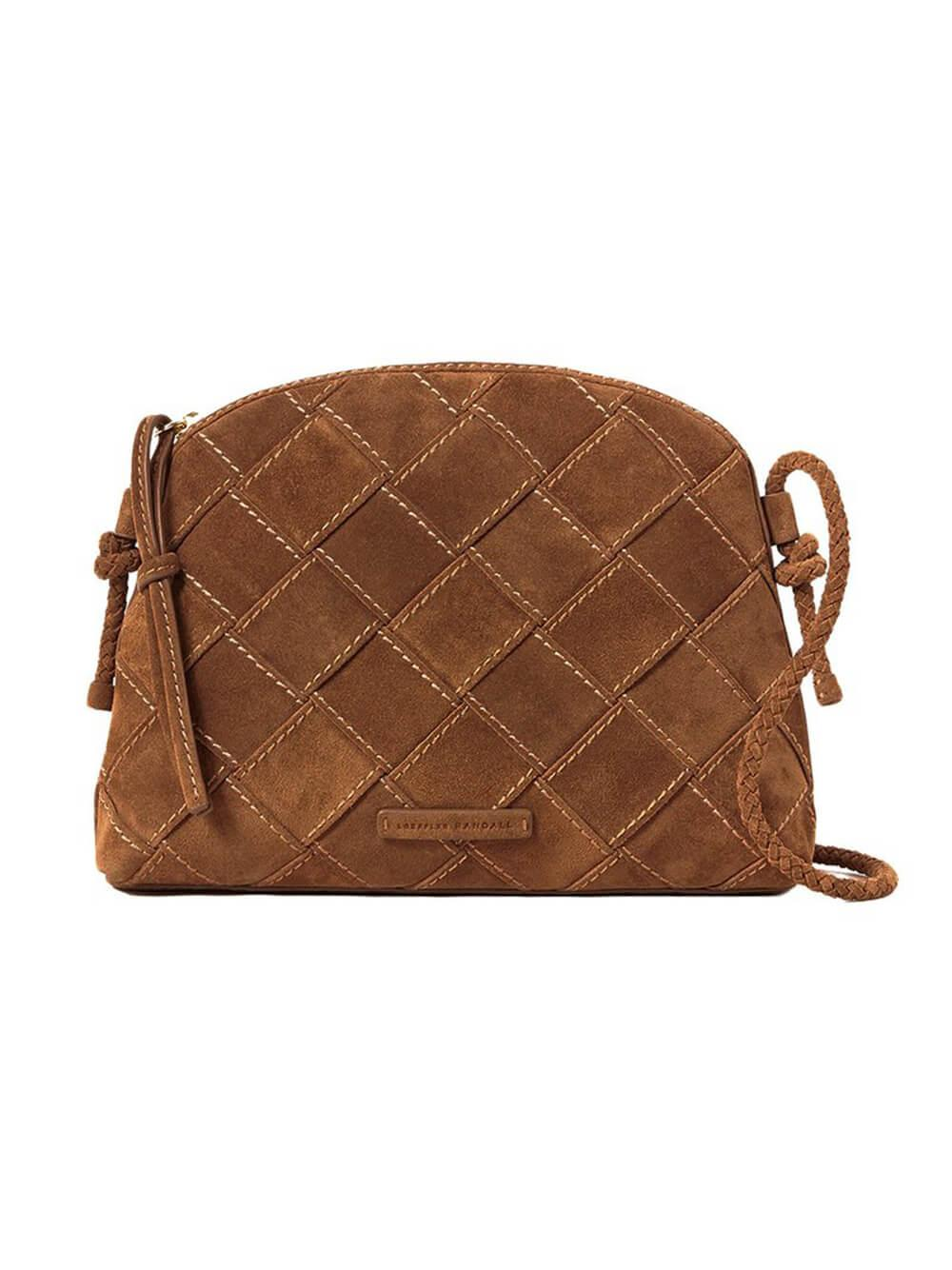 Mallory Suede Woven Crossbody Item # MALLORY-SPLS