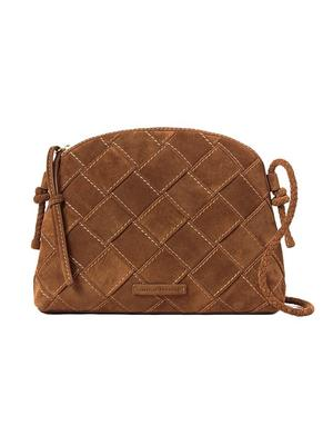 Mallory Suede Woven Crossbody