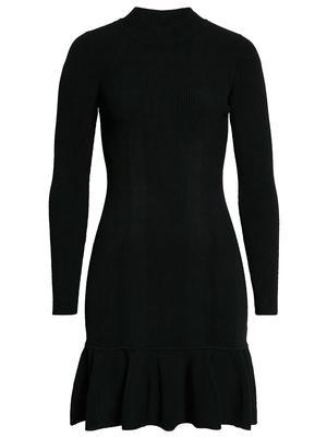 Knit Ribbed Flare Mini Dress