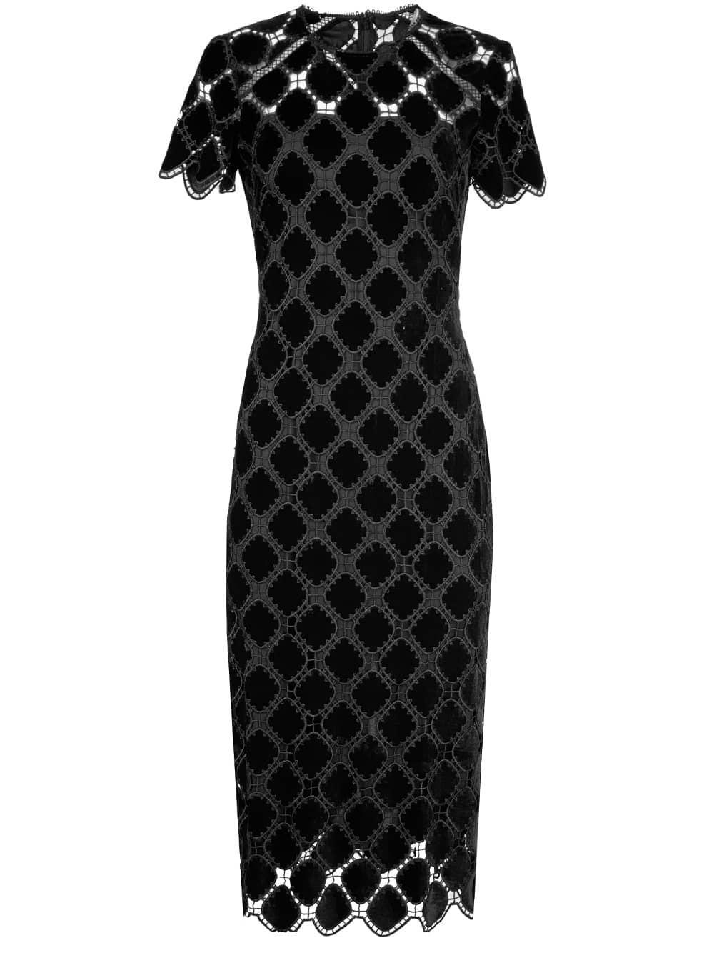 Kiriya Velvet Lace Dress Item # 649807