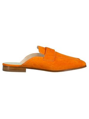 Riviera Flat Suede Slide Loafer