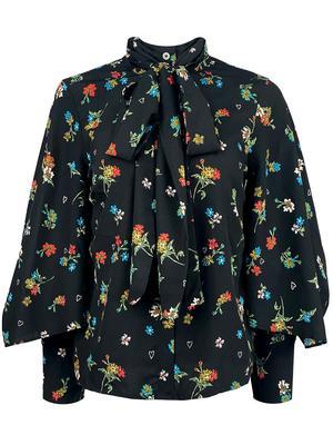 Gigi Floral Print Tie Neck Blouse