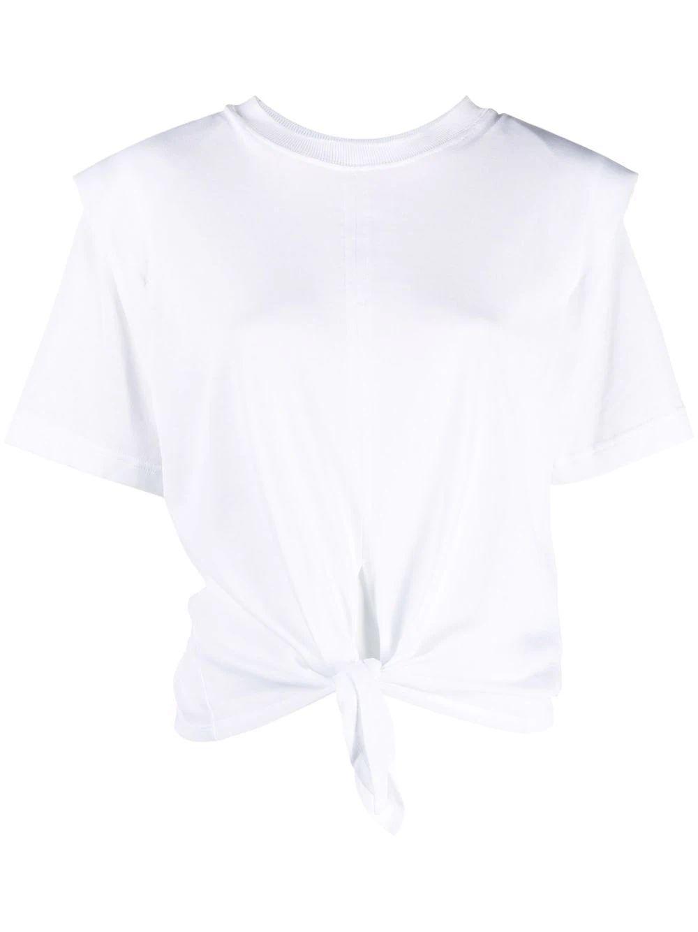 Zelikia Knot Front T- Shirt Item # ZELIKIA