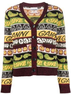 Wool Mix Knit Ganni Cardigan