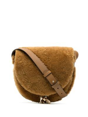 Mara Saddle Shearling Shoulder Bag