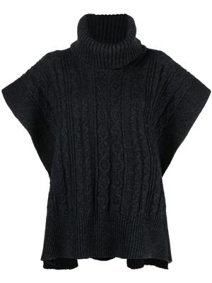 Textured Wool Blend Knit Pullover