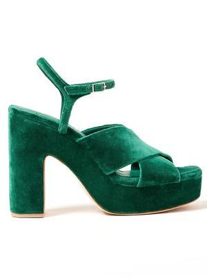 Gina Velvet Platform Sandal