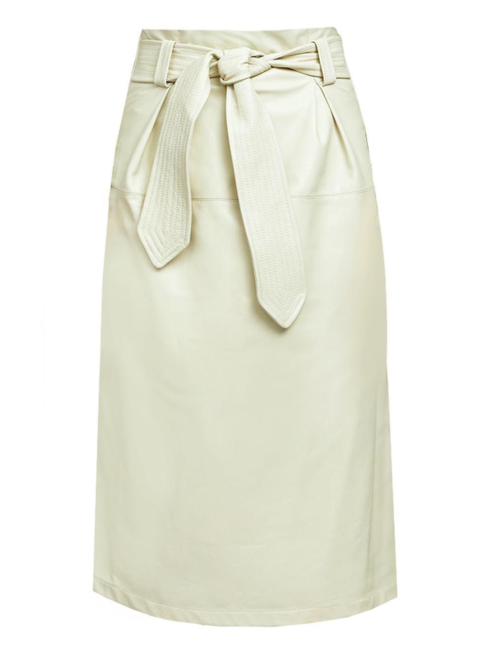 Paola Tie Waist Vegan Leather Skirt Item # CLS05