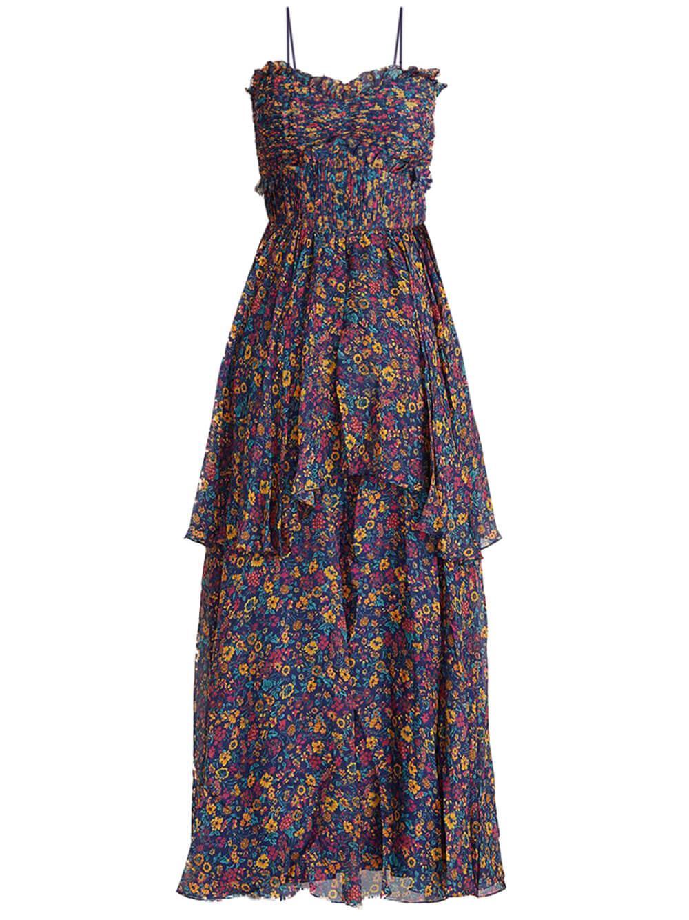 Kiko Tiered Floral Maxi Dress Item # 5816597