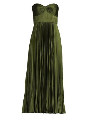 Ruched Bustier Pleated Gown