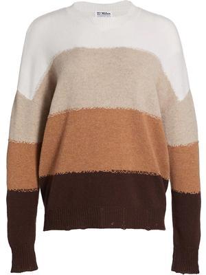 Alondra Block Stripe Pullover