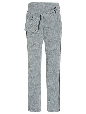 Boucle Slim Pant with Removable Pouch