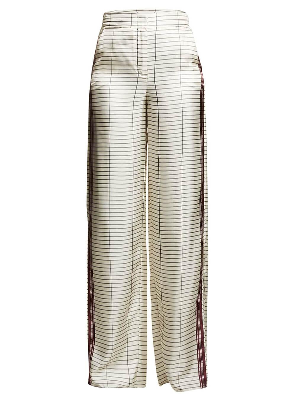 Wide Leg Grid Print Pant Item # HA21P208-29