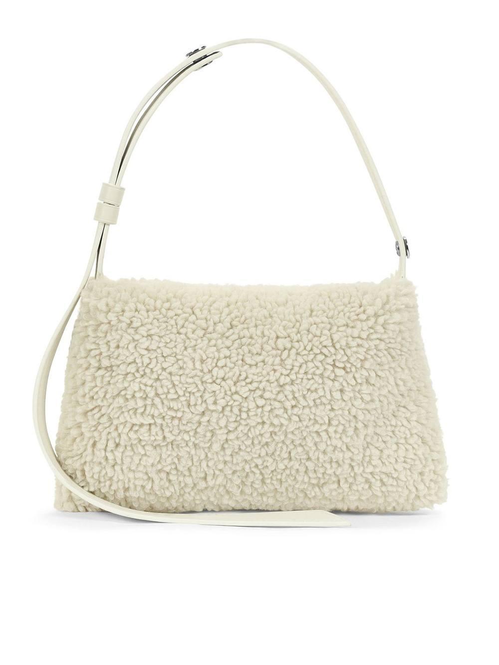 Mini Puffin Vegan Shearling Bag Item # S826-9065-30908