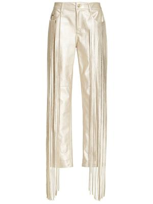 Vegan Leather Pant with Fringe