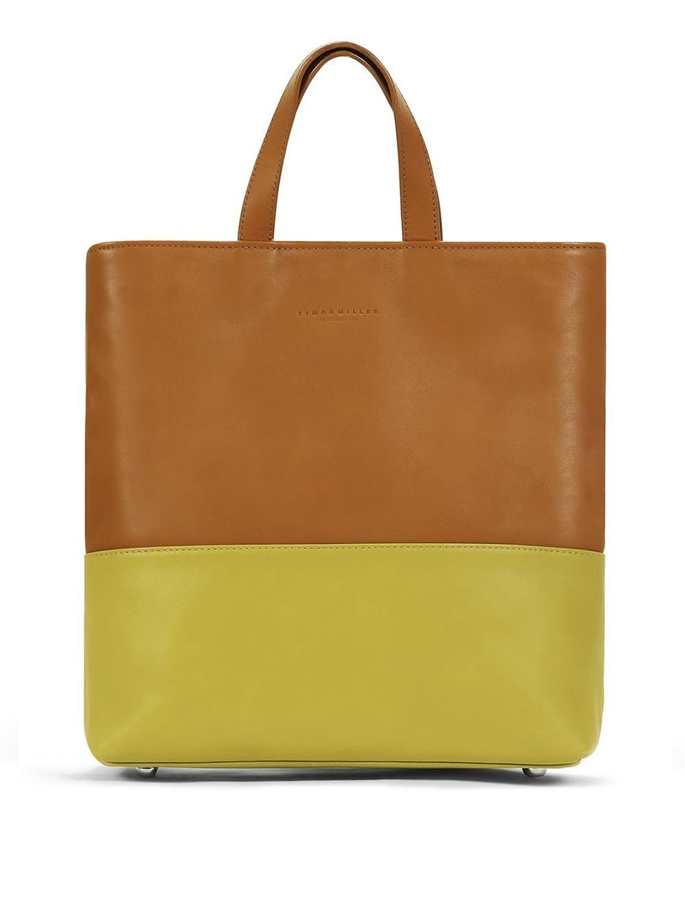 Caramel + Chartreuse Layer Tote Item # S851-9033-96104