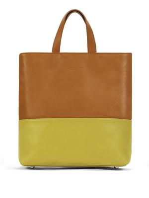 Caramel + Chartreuse Layer Tote