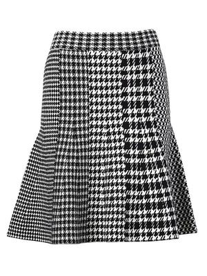 Check Mix Fit and Flare Skirt