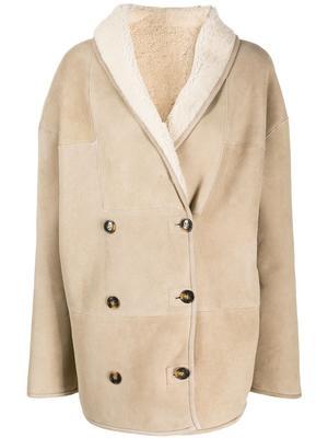 Cebu Shearling Double Breasted Coat