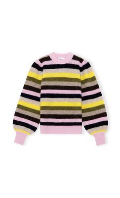 Soft Wool Knit Striped Sweater