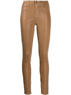 Maguerite High Rise Coated Skinny Jean