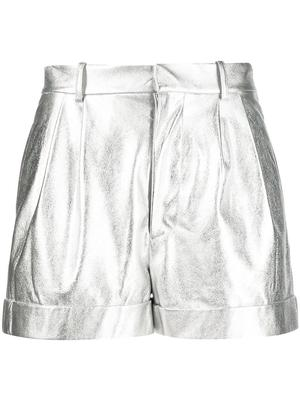 Conry Vegan Leather Pleated Cuff Short
