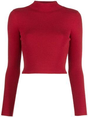 Ciara Mock Neck Cropped Pullover