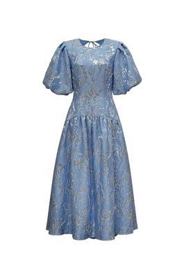 Faith Metallic Matelasse Midi Dress