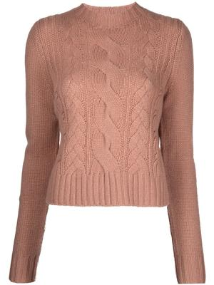 Shrunken Cable Knit Sweater