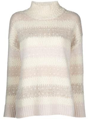Knit Jacquard Striped Sweater