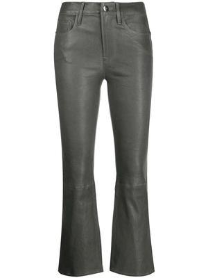 Le Crop Mini Boot Leather Pant