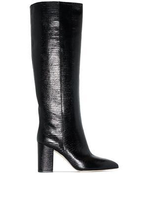 Printed Lizard 80mm Block Heel Boot