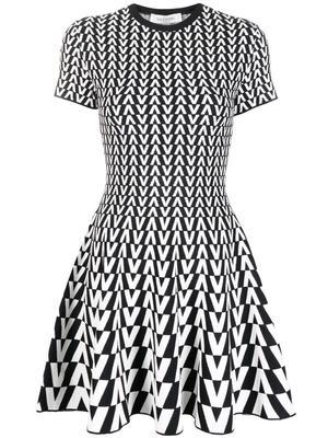 VLogo Knit Dress