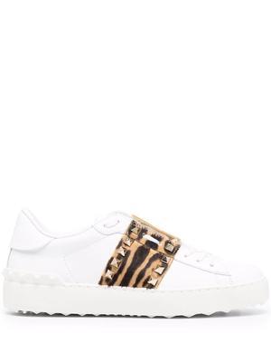 Leopard Rockstud Sneakers