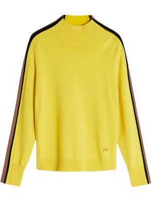 Contrast Rib Turtleneck Sweater
