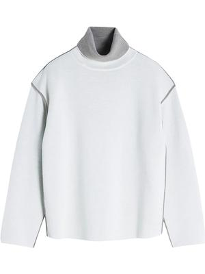 Contrast Piping Pullover