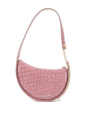Nadia Patent Croc Embossed Shoulder Bag