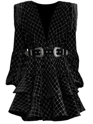 Deep V-Neck Mini Dress
